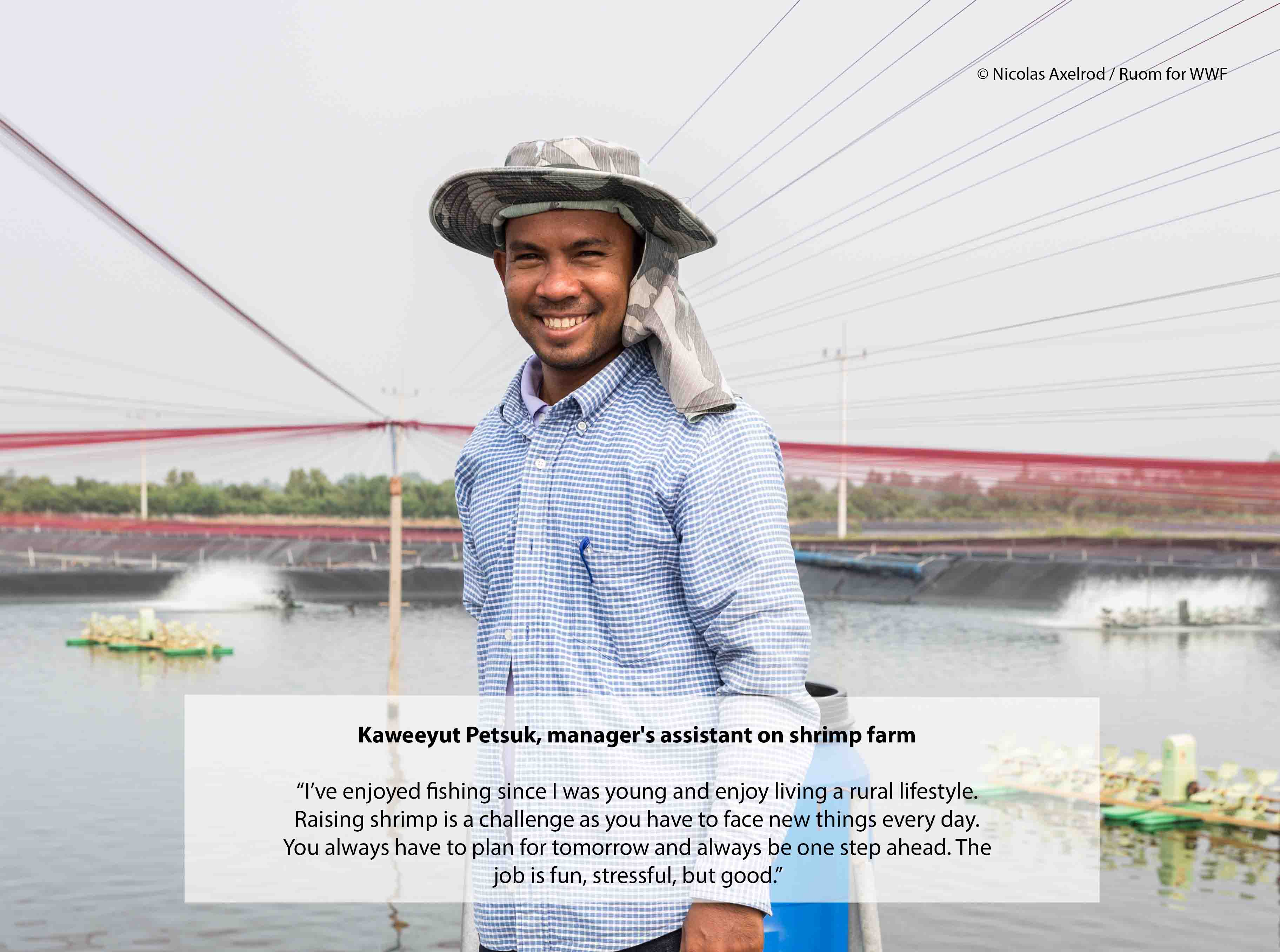 Thai Shrimp Farmer, Kaweeyut Petsuk.