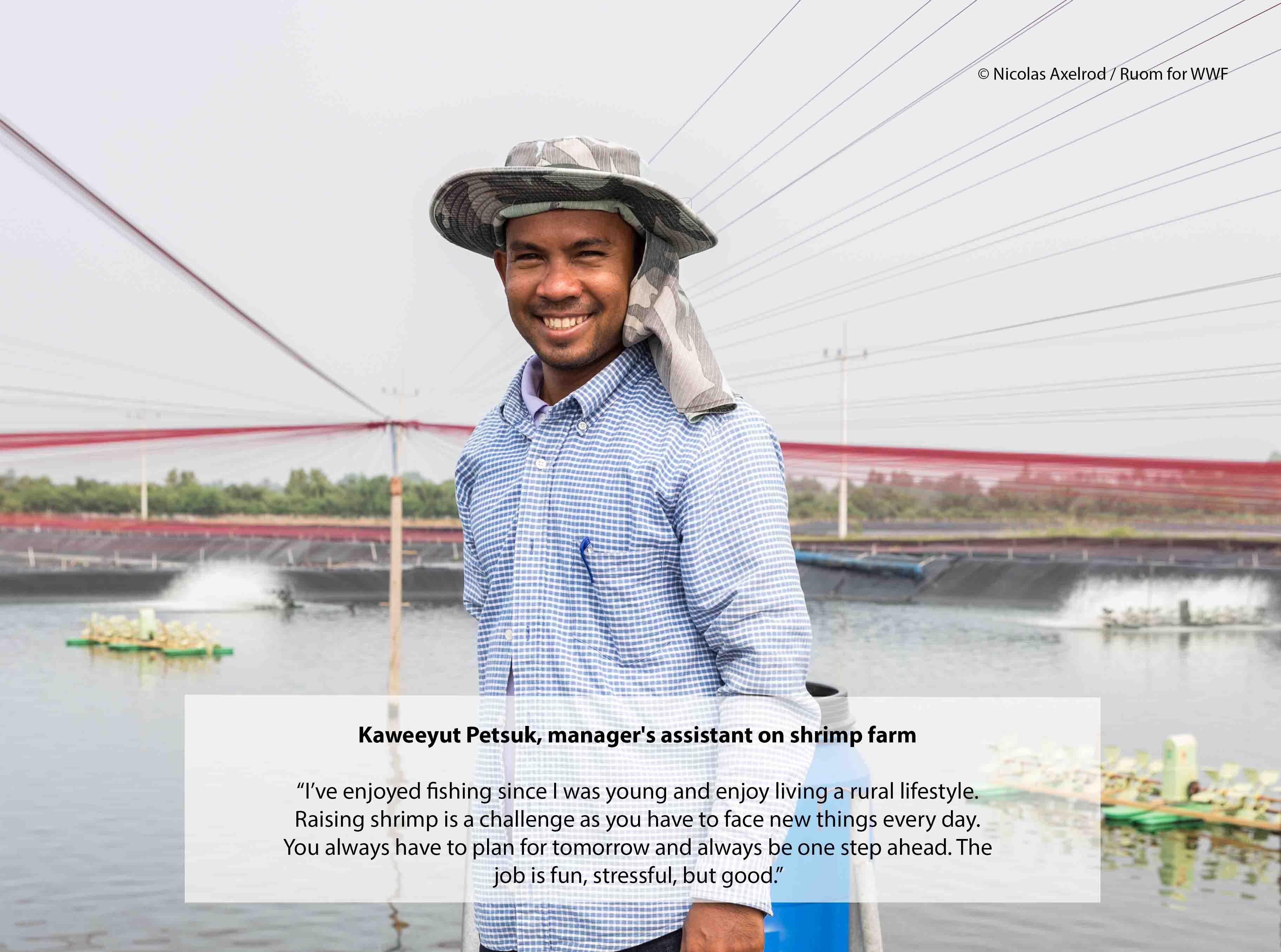 Thai Shrimp Farmer, Kaweeyut Petsuk.