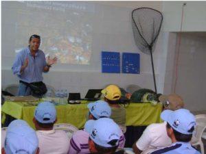 Officials hold a sea turtle handling workshop in Anconcito, Ecuador. Photo credit: WWF Ecuador